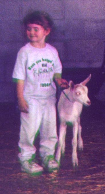 Kendra takin baby for walk after show 2001